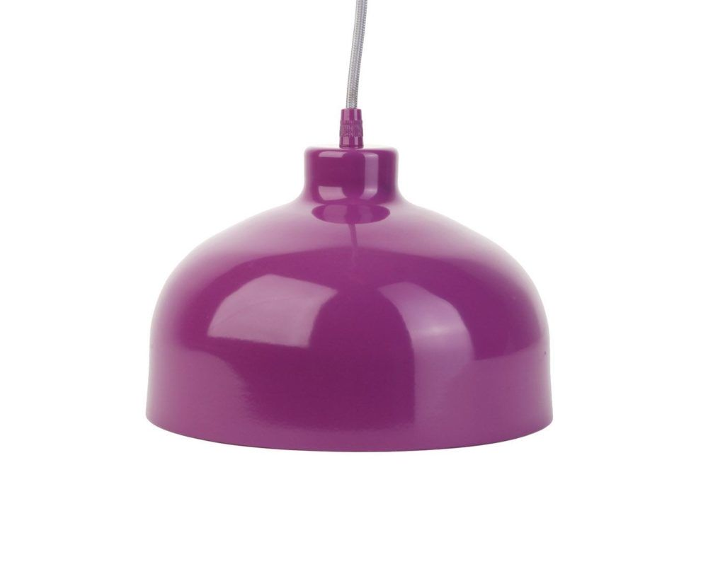 purple pendant lamp